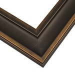 Frame: EXL2 - Executive - Black with Gold - Large Profile